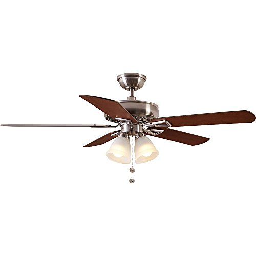"Hampton Bay 91191 Lyndhurst 52"" Indoor Brushed Nickel Ceilin"