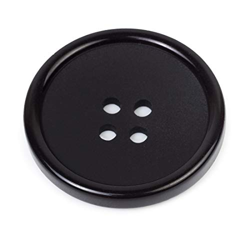Black Button 1 Inch Buttons Sewing Flatback Button Black Coat Buttons Black Colored Pack of 10