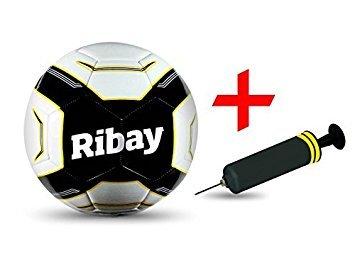 2c94f76d9a9 Ribay Soccer Ball Size 5 + BONUS Soccer Ball Pump - Best Soccer Ball for  Training