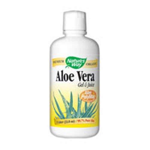 Nature's Way Aloe Vera Gel and Juice, 1 Liter (Pack of 2) ()