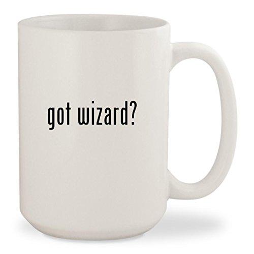 got wizard? - White 15oz Ceramic Coffee Mug - Glasses Kid With Cudi