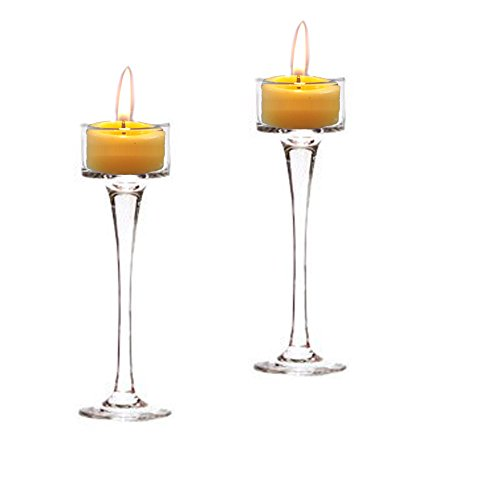 (Holiday Tea Light Candle Holder Set of 2 6.5 Inch & 7.5 Inch Wedding Holiday & Party Decor)