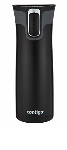 Contigo AUTOSEAL West Loop Vacuum Insulated Stainless Steel Travel Mug with Easy-Clean Lid, 24oz, Matte Black