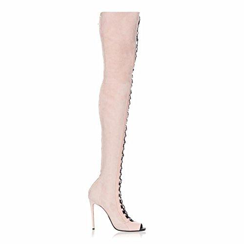 L@YC Botas Para Mujer Moda Invierno Denim Fiesta & Stiletto Tie TacóN/Negro Champagne