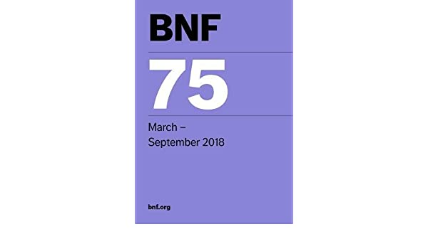 Bnf 75 british national formulary march 2018 9780857113313 bnf 75 british national formulary march 2018 9780857113313 medicine health science books amazon fandeluxe Gallery