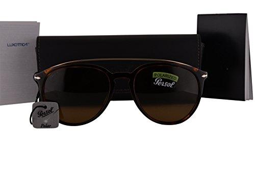 Persol PO3159S Sunglasses Havana Gold w/Polarized Brown Lens 901557 PO - Polarized Persol 3019s