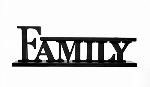 Family Word Art Wood Cutout Shelf Sitter