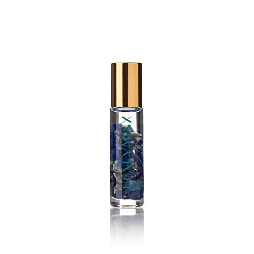 Honey Minx by Nicole Richie Crystal Gem Infused Essential Oil Pulse Point Roller Jasmine and Lapis Lazuli Crystals. Fragrance is Cleansing and Uplifting to Your Senses. (8 mL)