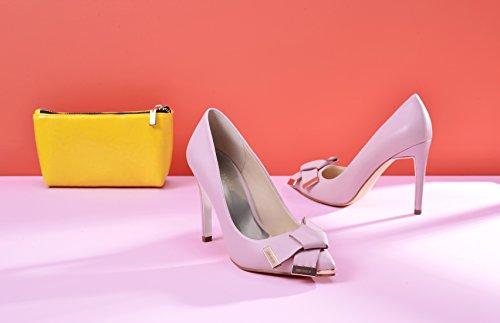 JENN ARDOR Women's High Heels Ladies Pointed Toe Stilettos Court Shoes Size 3.5-8 Pink QToHapssrC