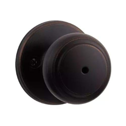 Bronze Standard Doors - Kwikset Cove Bed/Bath Knob in Venetian Bronze