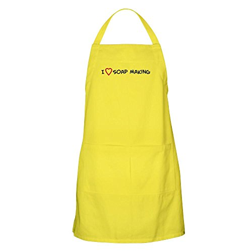 CafePress - I Love Soap Making BBQ Apron - Kitchen Apron with Pockets, Grilling Apron, Baking Apron (Soaps Heart Conversation)