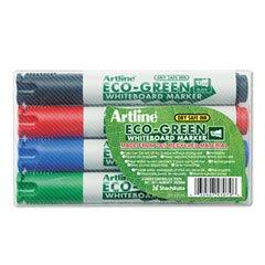 (Shachihata Artline Eco-Green Whiteboard Marker, Assorted Colors (4-Pack))