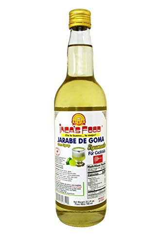 (Inca's Food Simple Syrup for Cocktails - Jarabe de Goma - Imported from Peru - 748 ml.)