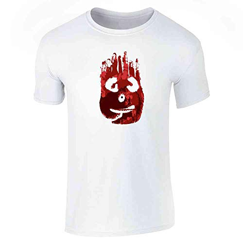 Pop Threads Volleyball Face Costume Movie Halloween White L Short Sleeve T-Shirt ()