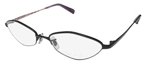 Paul Smith 1003 For Ladies/Women Cat Eye Full-Rim Simple & Elegant Trendy Classic Shape Eyeglasses/Spectacles (51-17-138, Matte Black) (Designer Cat-eye-brillen)