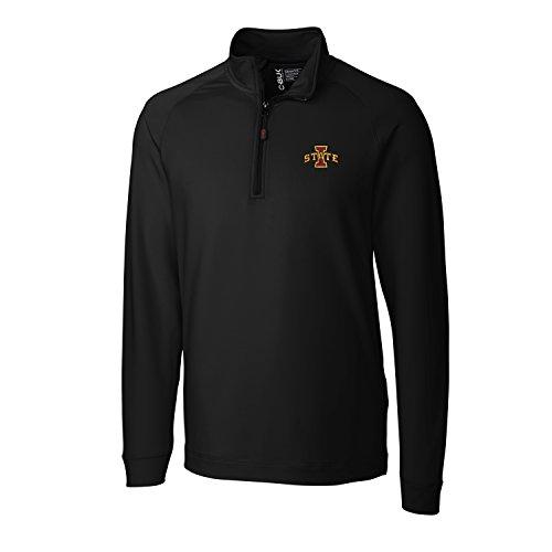 CBUK NCAA Iowa State Cyclones Men's Jackson Half Zip Over knit Jacket, X-Large, Black
