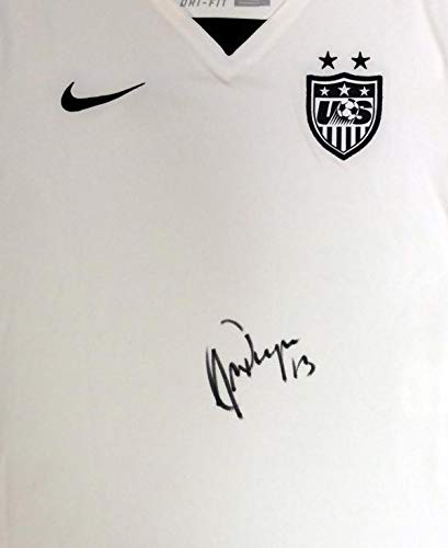 f0779e2a085 Autographed Alex Morgan Jersey - Usa White Nike Size S Stock #101456 - PSA/ DNA Certified - Autographed Soccer Jerseys at Amazon's Sports Collectibles  Store