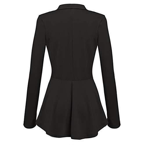 Noir Slim Femme Manches Ajuste Costume Blazer lgant Success Quatre Blouson Mode Longues Blazer Manches pour Classique xqRzwZO