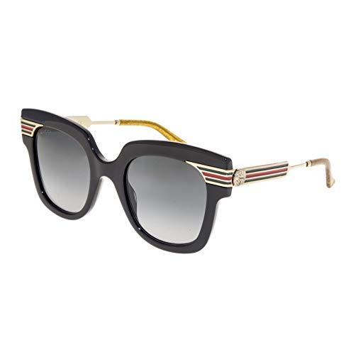 Gucci Black Stripes - GUCCI SYLVIE Stripe 0281 Gold Black Glitter Oversized Sunglasses GG0281S