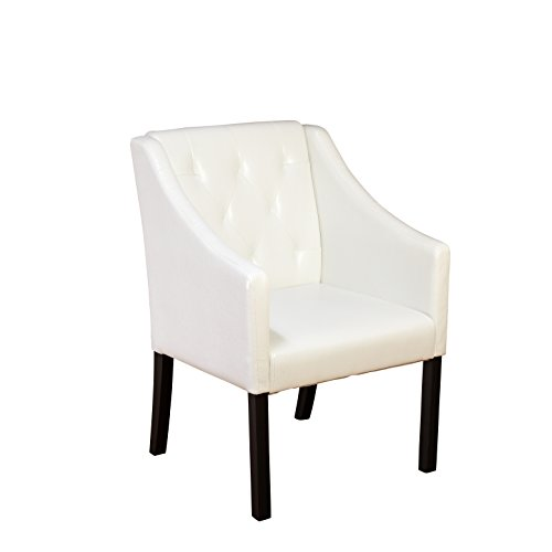 Target Marketing Systems 60418WHT Tufted Guest Chair, White (Faux Leather Reception)