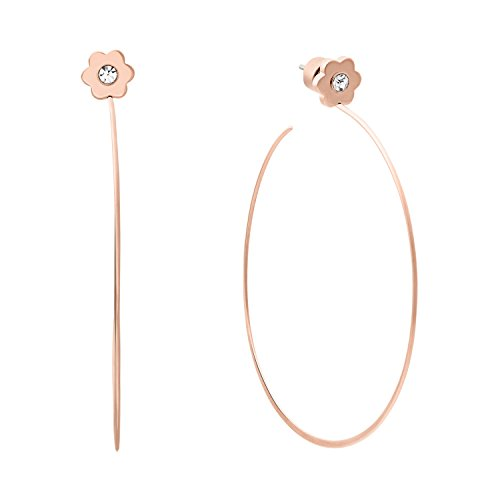 Michael Kors Womens Rose Gold-Tone Flower Hoop Earrings, One - Shop Kors Michael