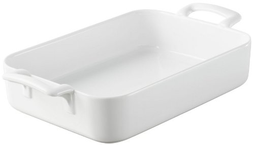 Revol Roasting and Serving Dish White Porcelain Belle Cuisine - Size10.25x7.25inches by Revol  / 614850