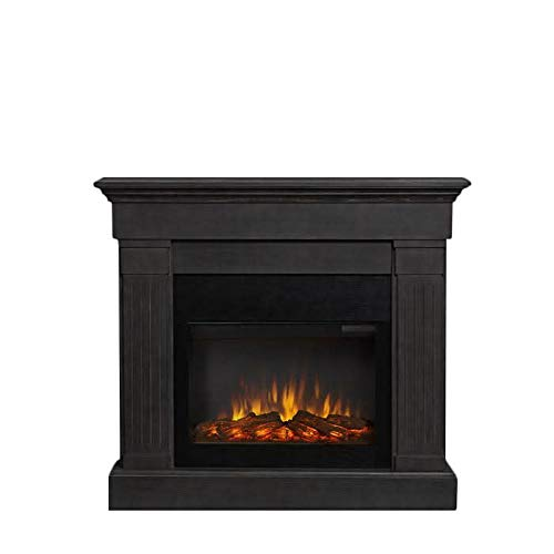Real Flame Crawford Slim Electric Fireplace in Gray (Mantels Fireplace Metal)