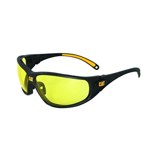 Caterpillar Tread Safety Glasses, Black and...