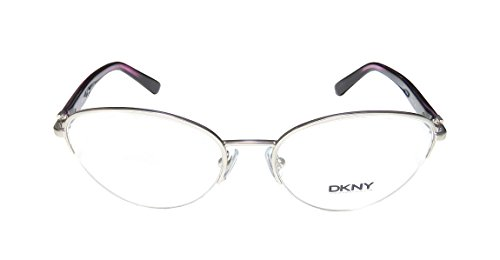 DKNY 5644 WomensLadies Cat Eye Half-rim EyeglassesEye Glasses (53-17-135 Matte Silver  Purple)