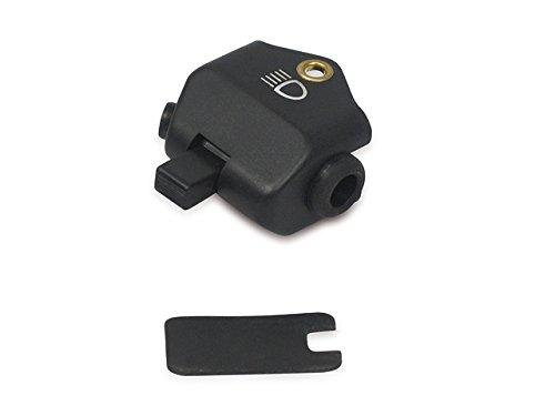 mit Lichthupe Abblendschalter schwarz mit Innenteil passend f/ür ES Plastikkappe TS ETS