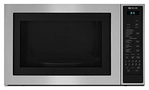 Jenn-Air JMC3415ES 24.75″ Counter top Microwave Oven with Convection Flush-to-Cabinet Design In-Wall Installation 14000 Watt Convection Element and 1.5 cu. ft. Capacity in Stainless