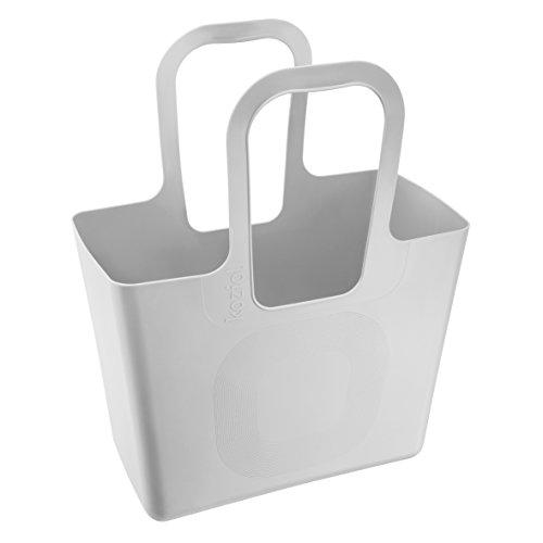 Koziol bolso XL, plástico, 21.5x 44x 54cm, plástico, turquesa, 21.5 x 44 x 54 cm Gris (Cool Grey)