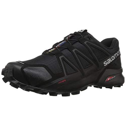 chollos oferta descuentos barato Salomon Speedcross 4 Zapatillas de Trail Running Hombre Negro Black Black Black Metallic 43 1 3 EU