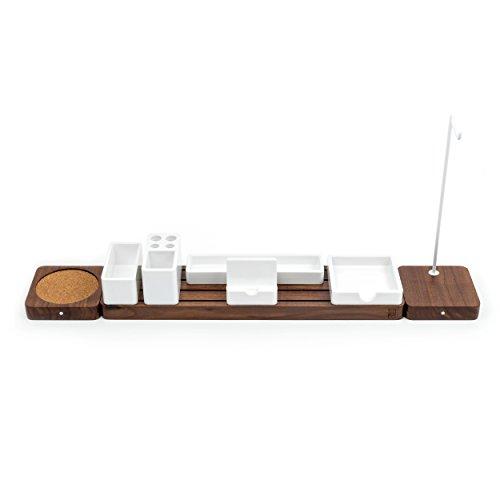 Gather Modular Desk Organizer & Extension Kit by Ugmonk   Minimalistic Wooden Desktop Sorter - Organize Your Workspace, Office Supplies, Kitchen, or Bedroom