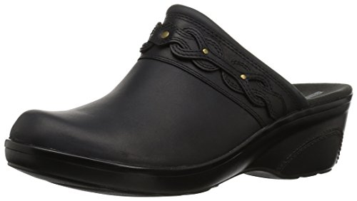 Soft Womens Clogs - CLARKS Women's Marion Coreen Clog, Black Leather, 080 M US