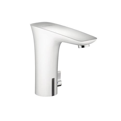 Hansgrohe 15170401 PuraVida Electronic Faucet with Temp Control, White/Chrome (Hansgrohe Electronic Faucet)