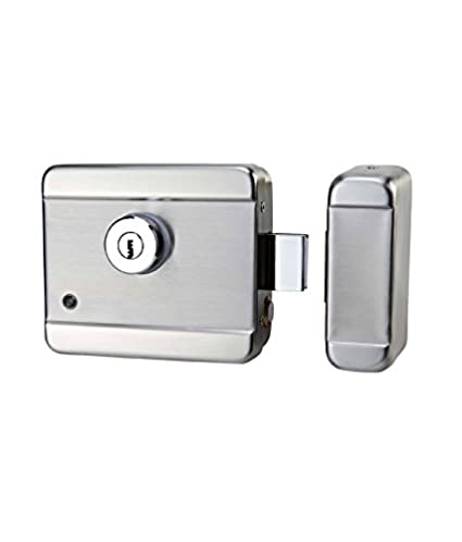 Stainless Steel Electronic Door Lock for Wooden u0026 Metal Doors wid Motorised Tech Stainless Steel Door  sc 1 st  Amazon.in & Stainless Steel Electronic Door Lock for Wooden u0026: Amazon.in ...