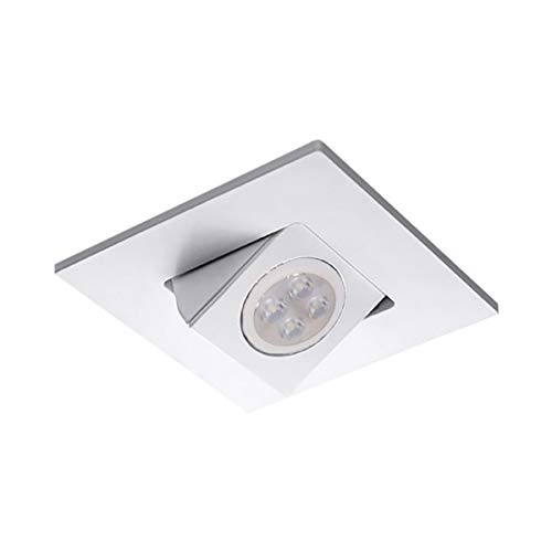 WAC Lighting HR-D416LED-WT 4in Square Adjustable Directional Trim LED Recessed Light, 4