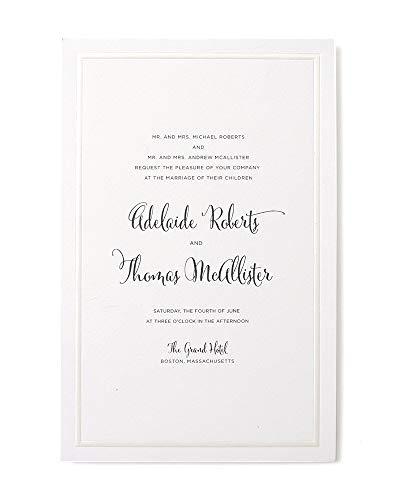 Gartner Studios Border Wedding Invitation Kit, Pearl White, 50-Count (61001) ()