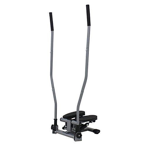 Sunny Health & Fitness Dual Action Swivel Stepper with Handlebars ()