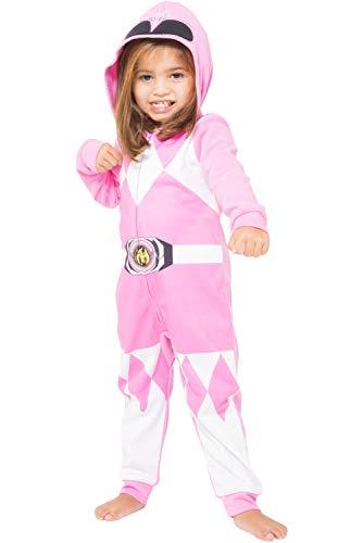 Girl Power Rangers Halloween Costumes (Power Ranger Girls' Toddler Pink Critter Pajama,)