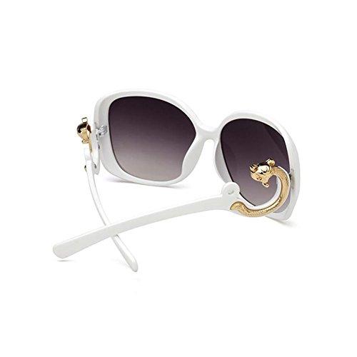 GAOJUAN Gafas UV400 white Gafas Sol Redblack Mujer Protección De para rB6n10qrw