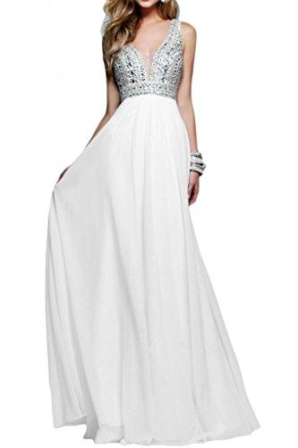 Tuscany novia exquisit ZWE Traeger gasa vestidos de fiesta largo Party Fiesta Prom Vestido de dama White - white
