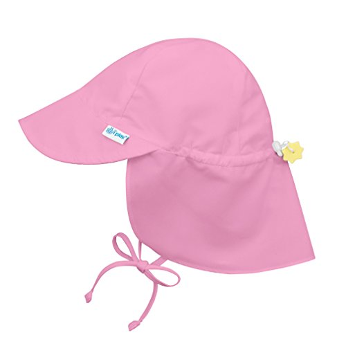 i play. Baby Flap Sun Protection Swim Hat, Light Pink, 9-18 Months (Toddler Hat Pink)