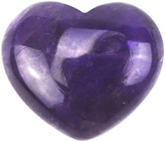 30mm Natural Amethyst Crystal Puff Heart Worry Healing Stone+ Free Fengshuisale Red String Bracelet SKU:W1317