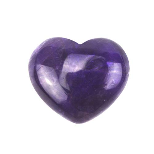 (fengshuisale Natural Amethyst Crystal Puff Heart Worry Healing Stone W Red String)