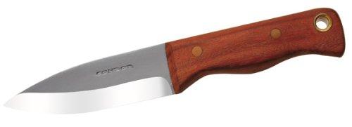 Condor Tool and Knife Mini Bushlore 3-Inch Drop Point Blade, Walnut Handle, Black Leather Sheath, Outdoor Stuffs