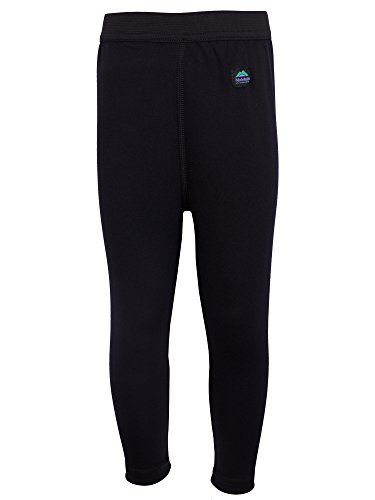 Molehill Kid's Long Underwear Bottoms, Black, 3T