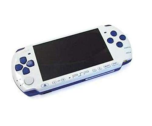 Sony PSP Slim and Lite 3000 Series Handheld Gaming Console with 2 Batteries and Memory Card (Renewed) (White/Blue)