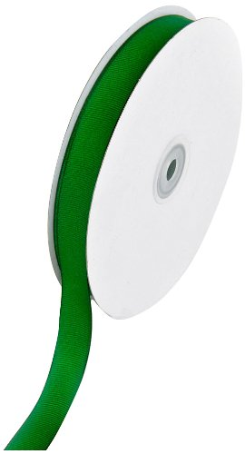 Creative Ideas 50-Yard Solid Grosgrain Ribbon, 5/8-Inch, Emerald Green